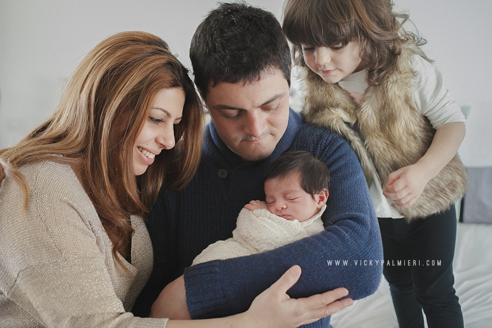 Natural posing and real in home newborn and family photography